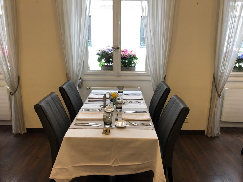 Table, Restaurant Bel'Espérance, Genève