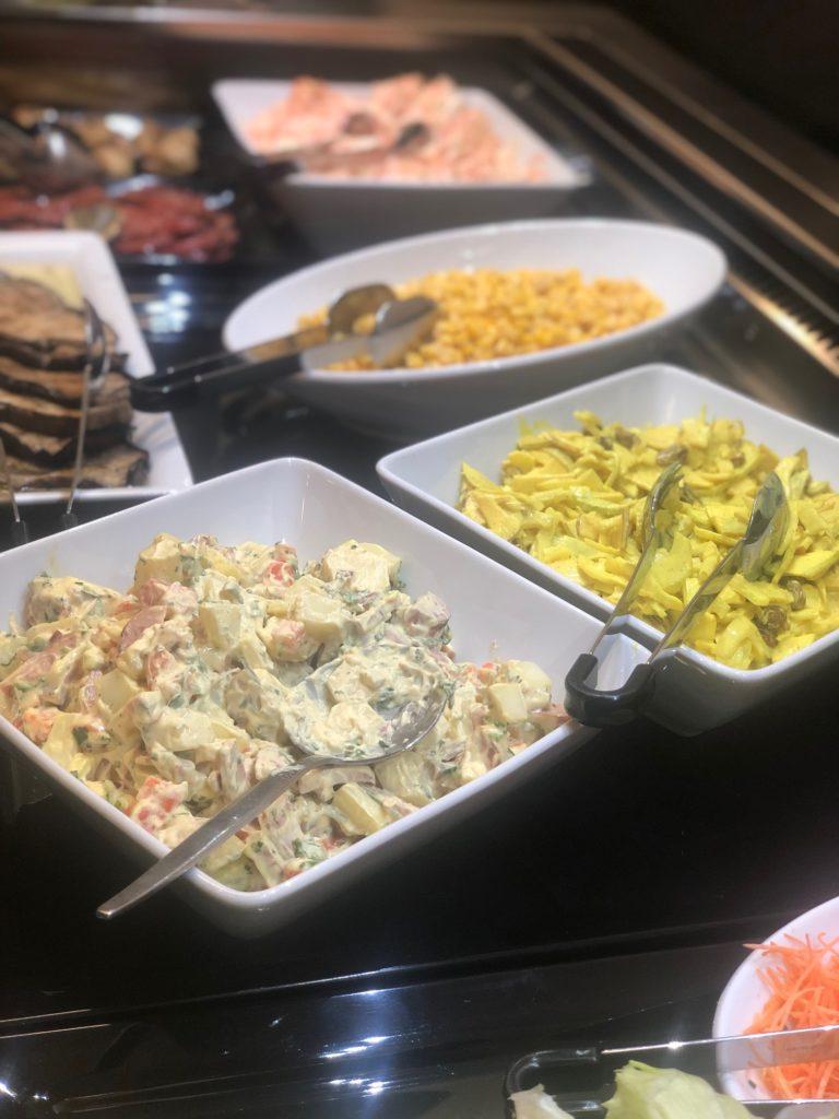 Buffet de crudités, Restaurant Bel'Espérance, Genève